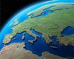 Globe montrant l'Europe