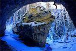Rock Climbing, Johnston Canyon, Banff National Park, Alberta, Canada