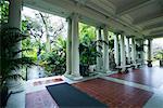 Colonnade and Gardens, Huntington Botanical Gardens, Pasadena, California, USA
