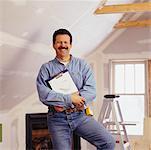 Portrait of Man Doing Renovations