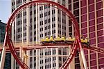 Roller-coaster, New York New York Hotel and Casino, Las Vegas, Nevada, USA