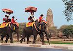 People on Elephant Rides, Ayutthaya, Thailand