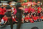 People at Parade for Thai Princess During Chinese New Year, Bangkok, Thailand