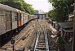 Passenger Trains Arriving From Bangkok, Thailand