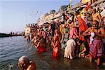 People Bathing in the Ganges River, Varanasi, Uttar Pradesh, India