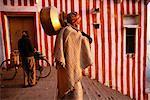 Man Carrying Large Pot, Varanasi, Uttar Pradesh, India