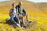 Portrait von Vater und Tochter Wandern