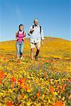 Vater und Tochter Wandern