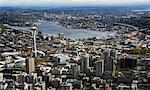 Overview of City, Seattle, Washington, USA