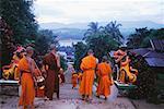 Moines bouddhistes, Laos
