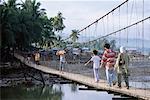 People Walking on Footbridge, Iligan City, Mindanao, Philippines