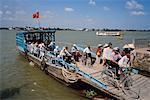 People Departing Ferry, Vinh Long, Vietnam
