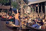 People at Floating Market, Inle Lake, Myanmar
