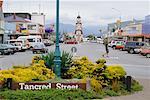 Street Scene on Tancred Street, Hokitika, South Island, New Zealand
