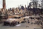 Suite des incendies de forêt, Oakland, Californie, USA