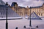 Extérieur du Musée du Louvre, Paris, France