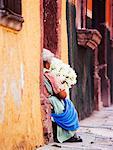 Woman Selling Flowers, San Miguel de Allende, Guanajuato, Mexico