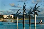 Steel Fish Sculptures, Esplanade Saltwater Swimming Lagoon, Cairns, Queensland, Australia