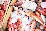Poissons à vendre au marché, Oia, Santorini Island, Grèce