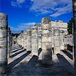 Plaza der tausend Säulen, Tempel der Krieger, Chichen-Itza, Yucatan, Mexiko