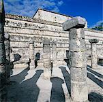 Gruppe der tausend Säulen, Tempel der Krieger, Chichen-Itza, Yucatan, Mexiko