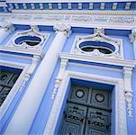 Facade and Entrance of Building, Merida, Yucatan, Mexico
