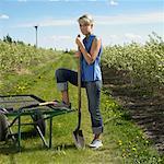 Woman Working In A Saskatoon Berry Field