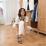 Femme sandale de laçage