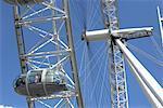 Close Up of Millenium Wheel, London, England