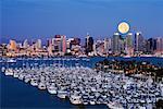 Skyline and Marina, San Diego, California, USA