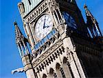 Gros plan de la tour de la paix, édifice du Parlement, Ottawa, Ontario, Canada