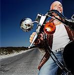 Mann Reiten Motorrad