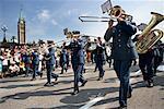 Military Marching Band, Canada Day Parade, Parliament Hill, Ottawa, Ontario, Canada