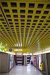 Interior of Subway, Milan, Italy