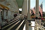 Porch at Grand Hotel, Mackinac Island, Michigan, USA
