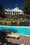Swimming Pool at Grand Hotel, Mackinac Island, Michigan, USA