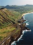 Kalanianaole autoroute, Oahu, Hawaii, USA