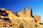 Les trois commères, Arches National Park, Utah, Etats-Unis