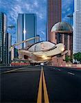 Scène de rue futuriste