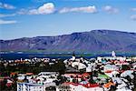 Mount Esja and Rooftops, Reykjavik, Iceland