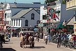 Street Scene, Mackinac Island, Michigan, USA