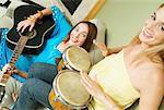 Portrait of Women Playing Music