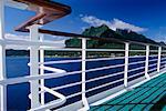 Deck of Cruise Ship, Bora Bora, French Polynesia
