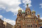 Sauveur sur la sang répandu cathédrale, Saint-Pétersbourg, Russie