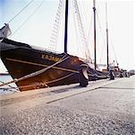 Anchored Boat at Dock, Toronto, Ontario, Canada