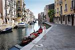 Boys with Gondola, Venice, Italay