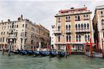 Gondolas at Dock, Venice, Italy