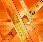 Rubans à mesurer et des dirigeants