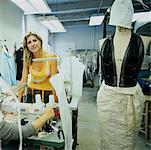 Portrait de la créatrice de mode