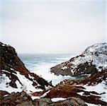 Schneebedeckte Hügel, St Johns, Neufundland, Kanada